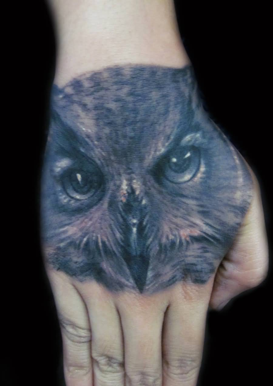 Realistic Owl Bird Tattoo