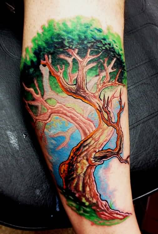 Realistic Tree Tattoo