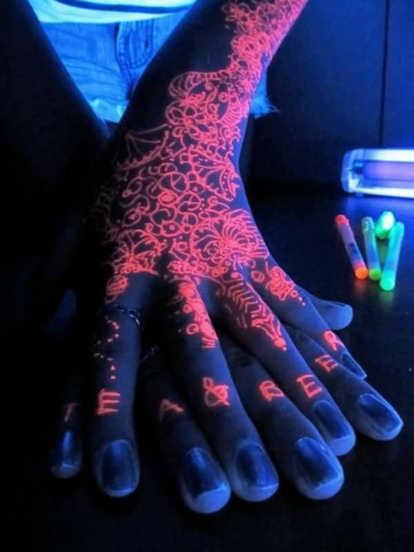 Red Ink Awesome UV Tattoo