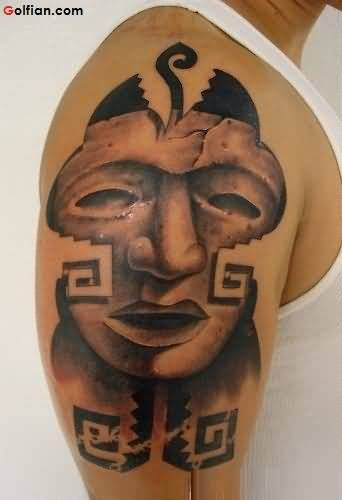 Scaey Mask African Tattoo