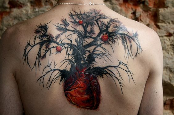 Science Heart Tree Tattoo