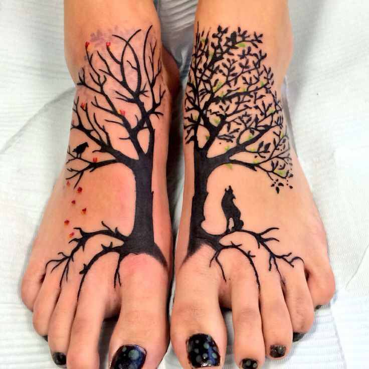 Simple Black Tree Tattoo (2)