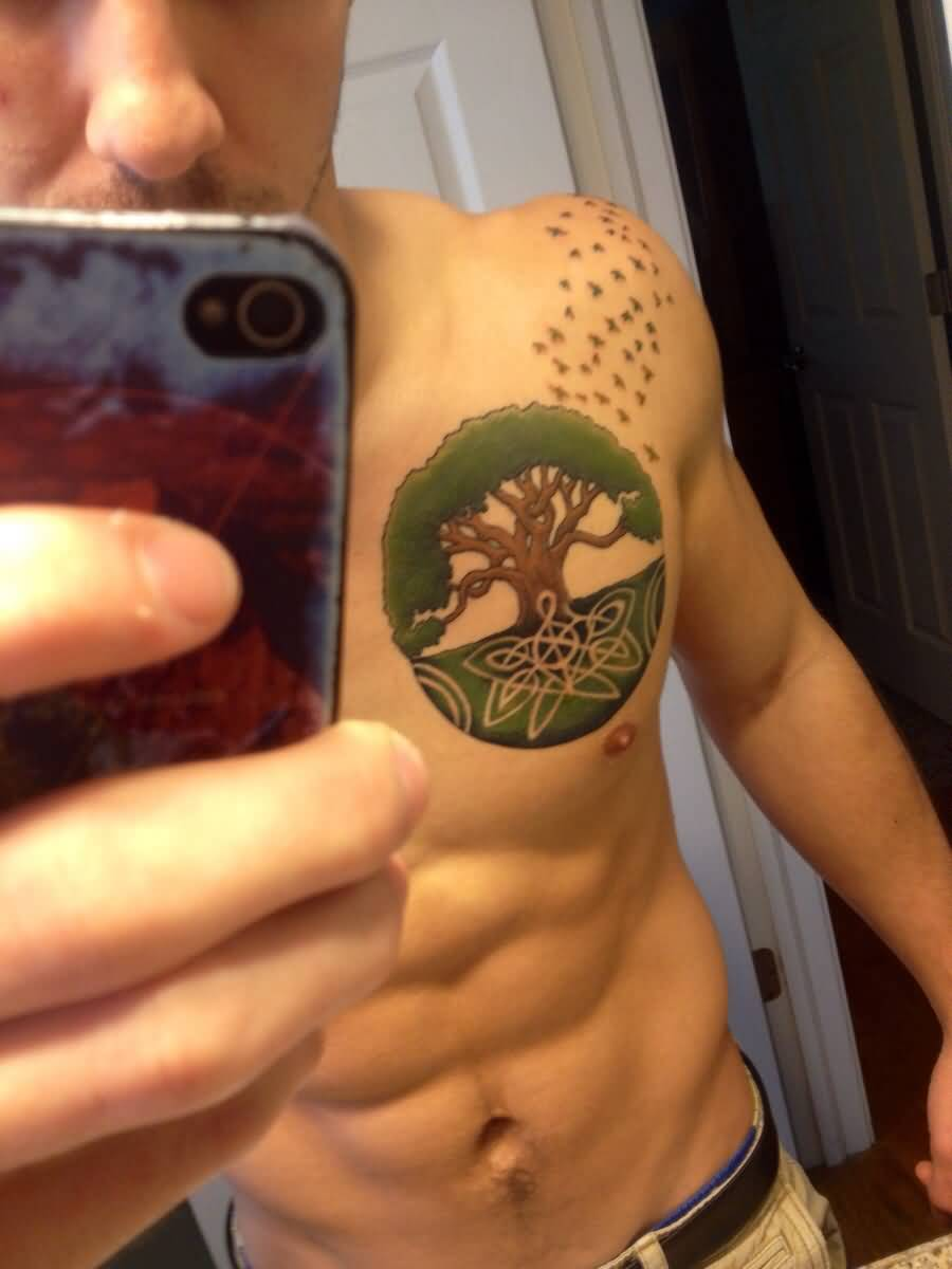 Simple Celtic Tree Tattoo