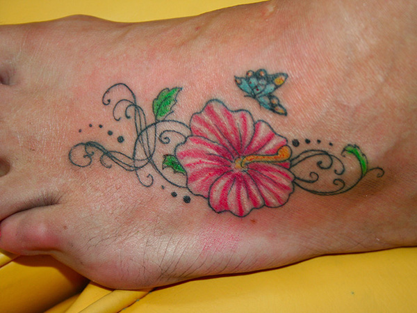 Simple Hibiscus Tattoos (2)