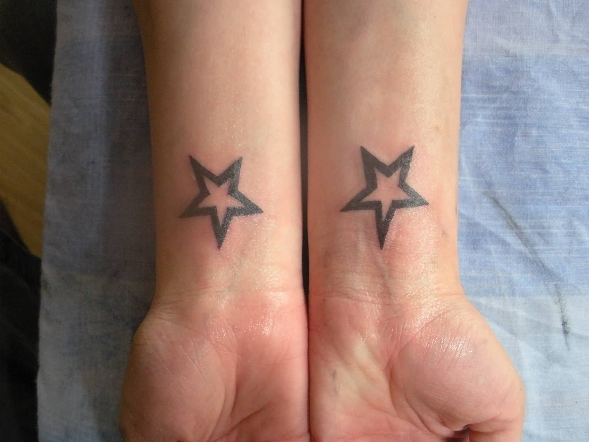 Simple Stars Tattoo (2)