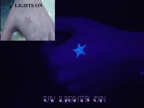 Simple UV Star Tattoo