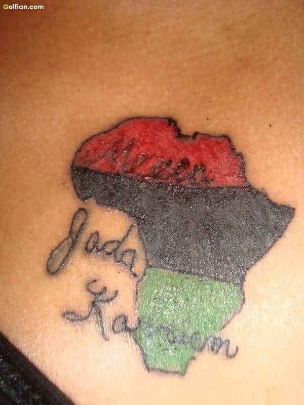 Small Map African Tattoo