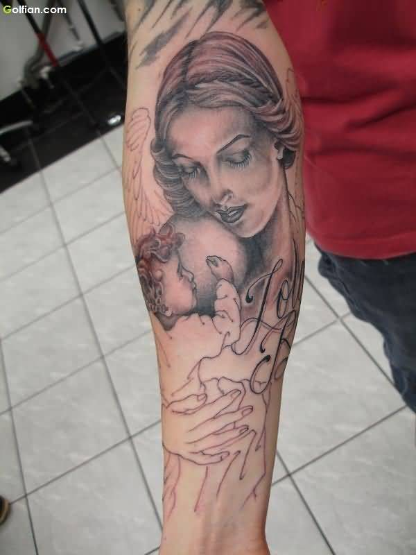 Traditional Angel Tattoo