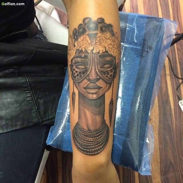Trendy African Tattoo