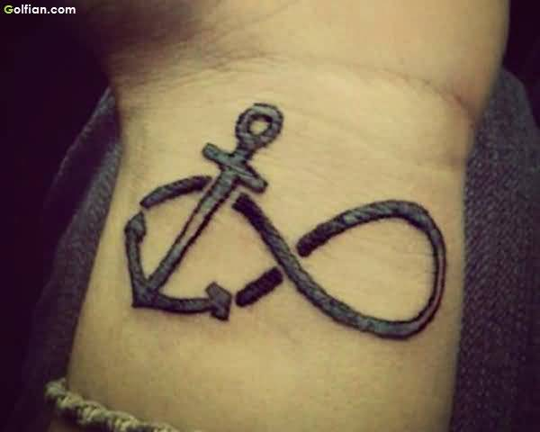 Trendy Anchor Tattoo