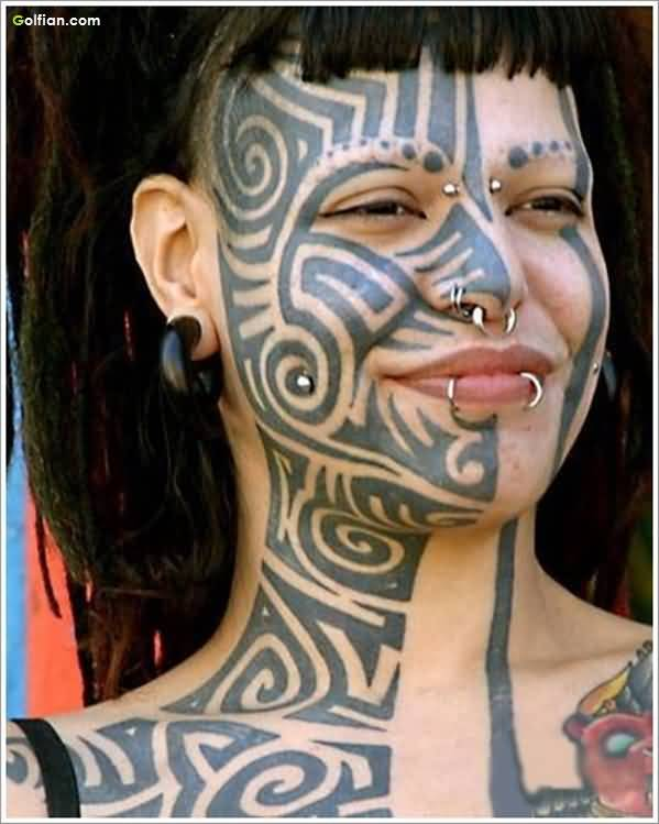 Tribal Face African Tattoo