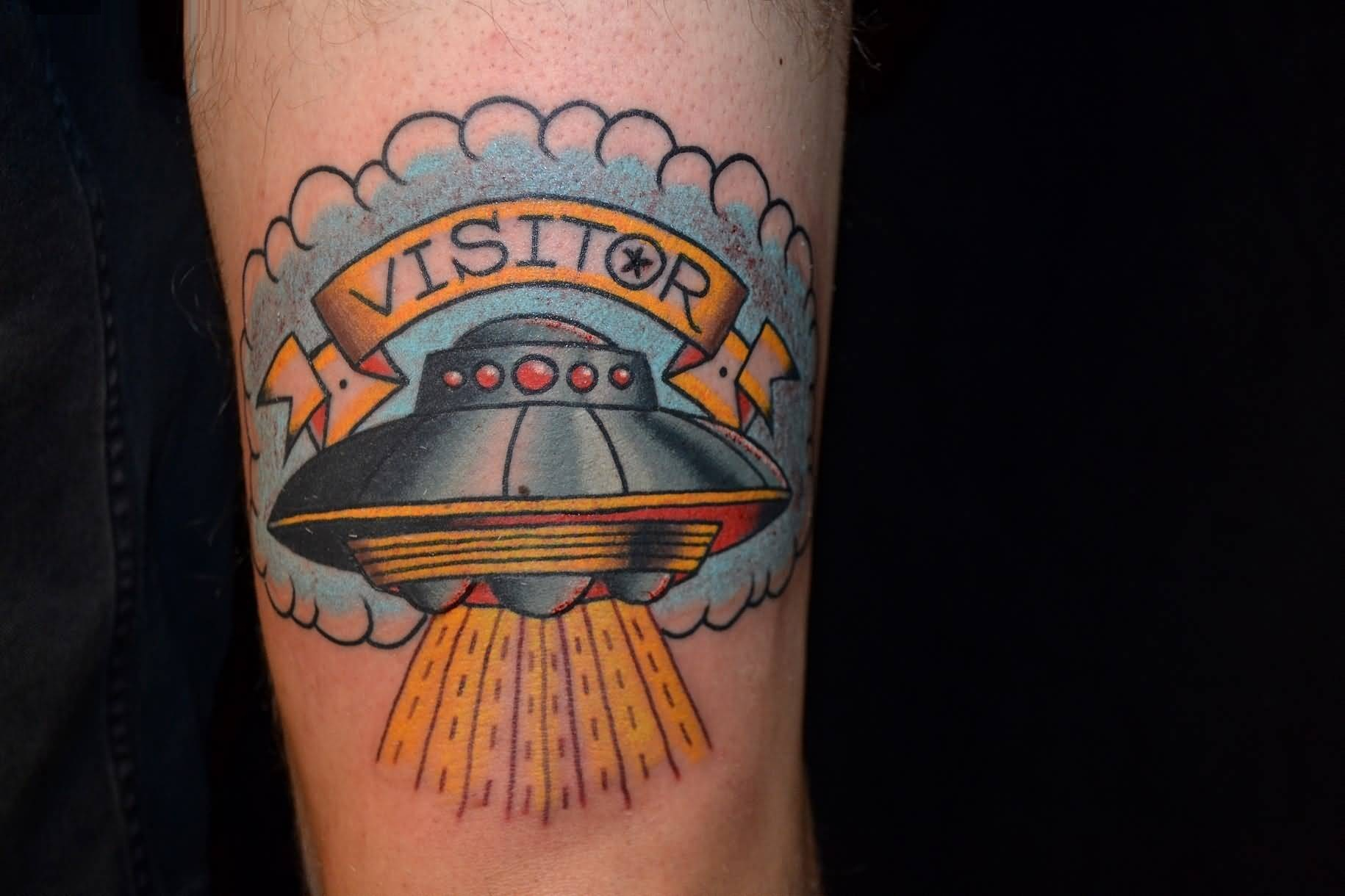 Ufo Banner Alien Tattoo