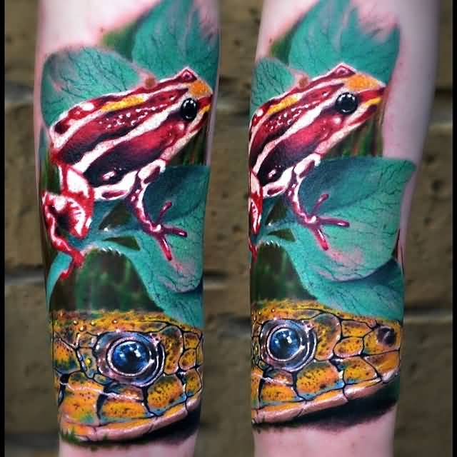 Ultimate Frog Snake Tattoo