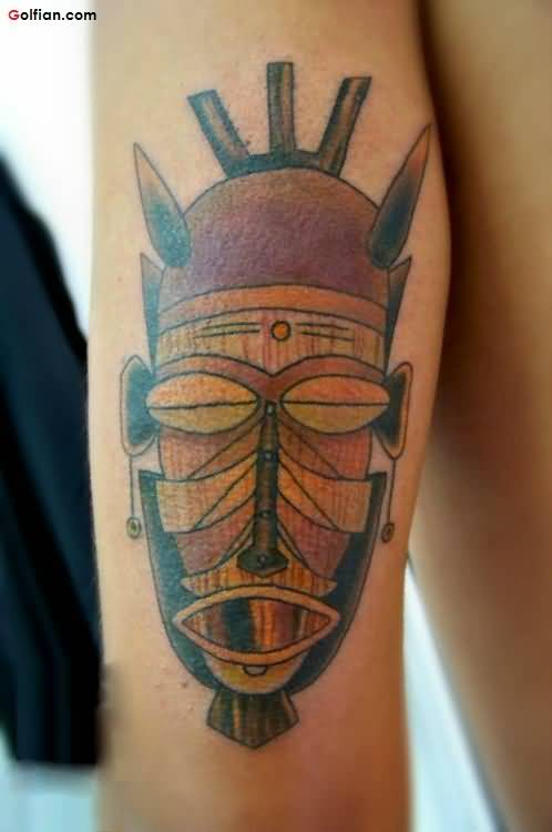 Vintage Mask African Tattoo