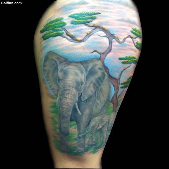Watercolor African Tattoo