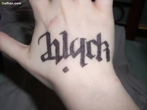 Weird Ambigram Tattoos