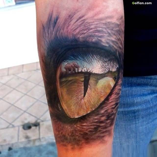 Wild Eye African Tattoo