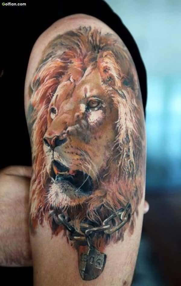 Wild Lion African Tattoo
