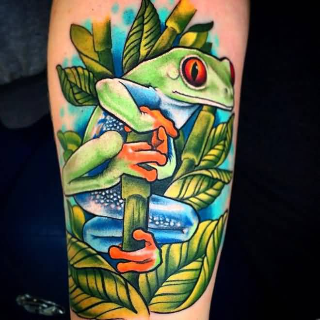 Wonderful Frog Tattoos
