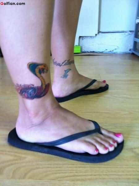 Weird Ankle Tattoo